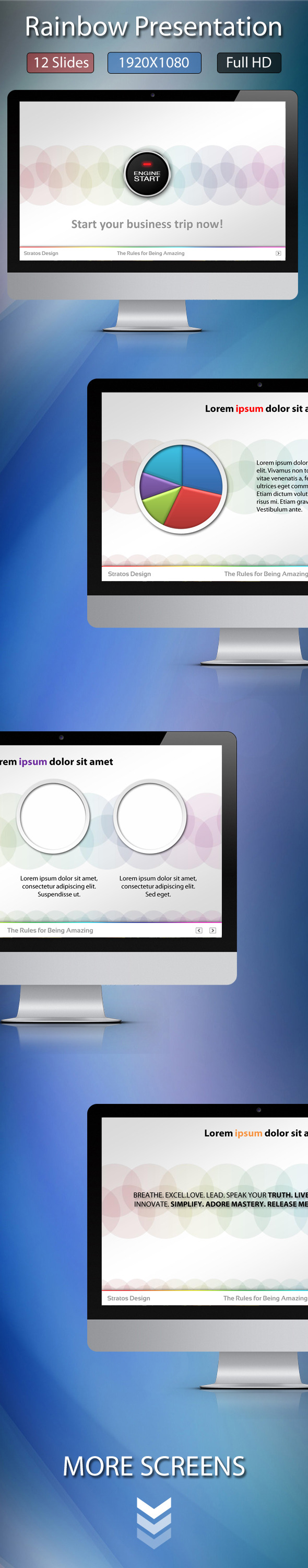 Rainbow Presentation - Abstract PowerPoint Templates