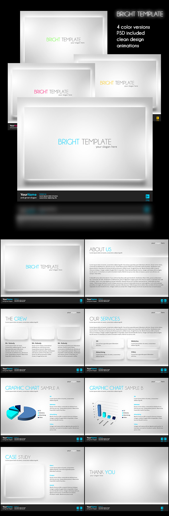 Bright Powerpoint Template - PowerPoint Templates Presentation Templates