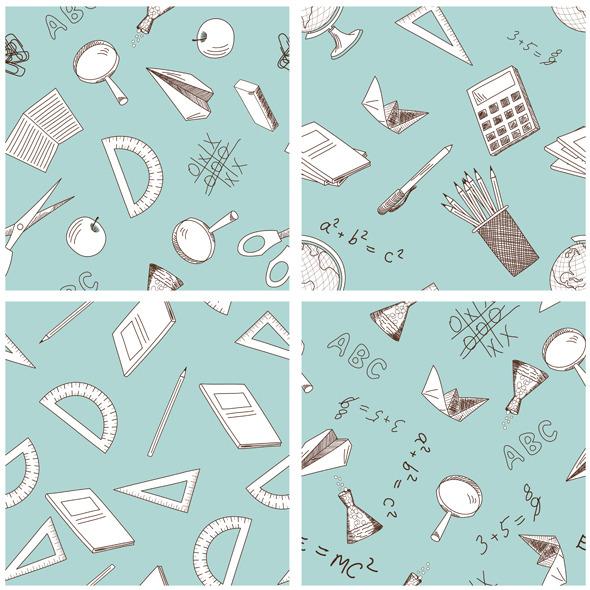 School Set - Textures / Fills / Patterns Illustrator