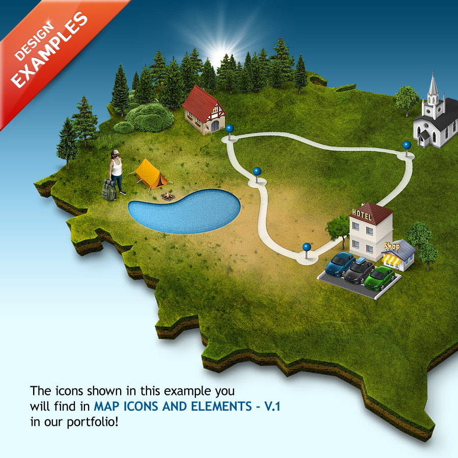 3D Map Generator Pro - Easy Panel by Orange_Box | GraphicRiver D Map Generator on