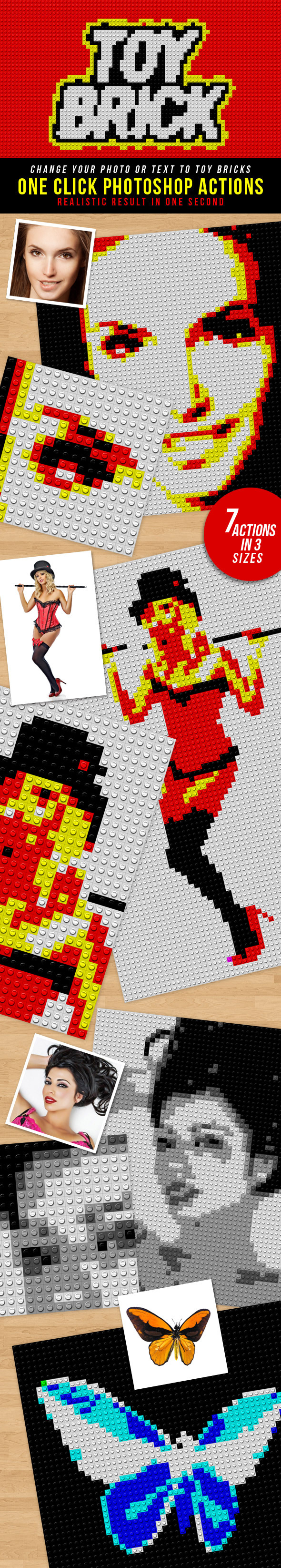 Toy Bricks Photoshop Actions - Actions Photoshop