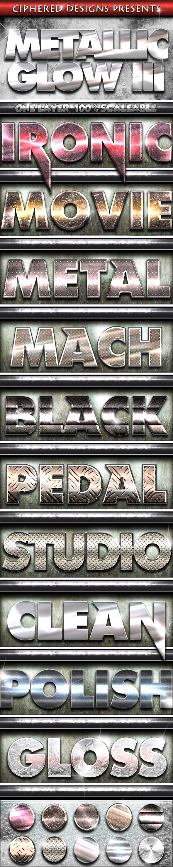 Metallic Glow III - Professional Styles - Text Effects Styles