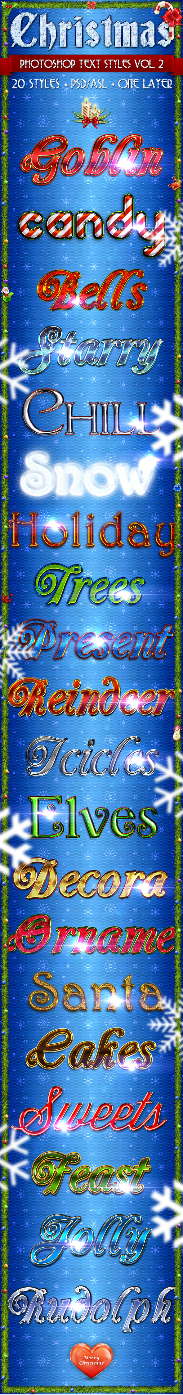 Christmas Vol. 2 - Text Styles - Text Effects Styles