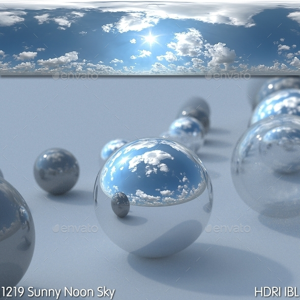 HDRI IBL 1219 Sunny Noon Sky - 3DOcean Item for Sale