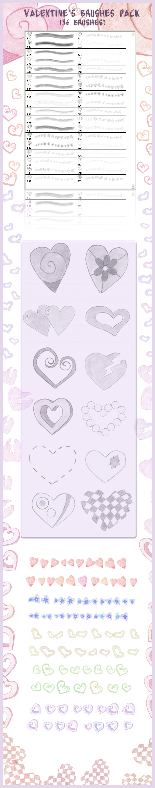 Valentine's Brushes Pack (36 brushes)  - Flourishes Brushes