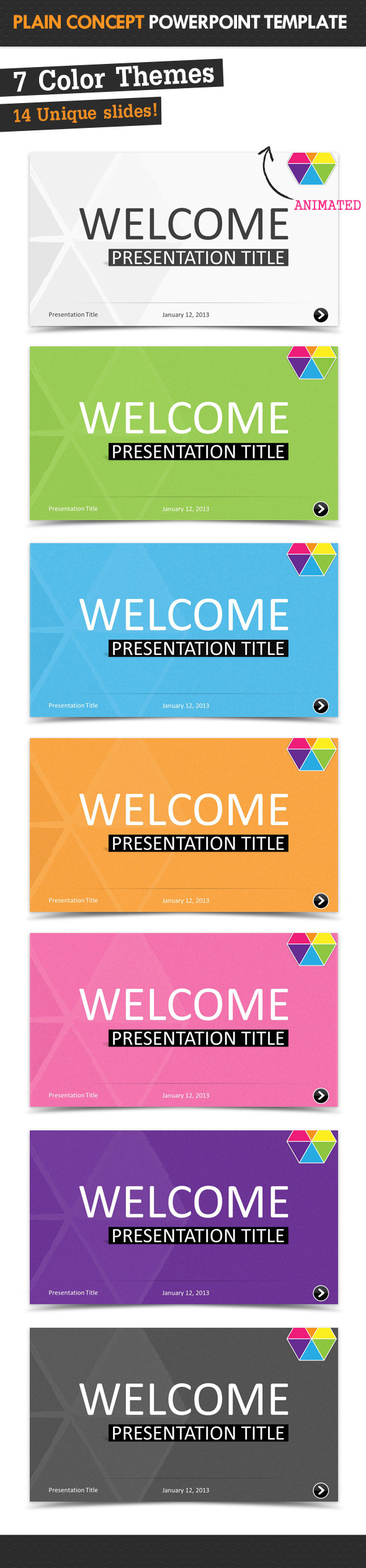 Plain Concept Powerpoint Template - PowerPoint Templates Presentation Templates