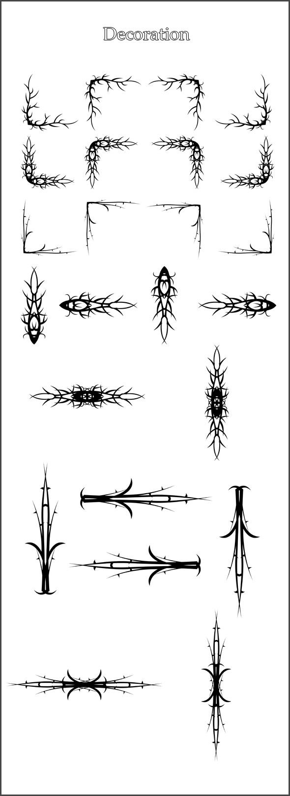 24 Brushes Decoration - Flourishes Brushes