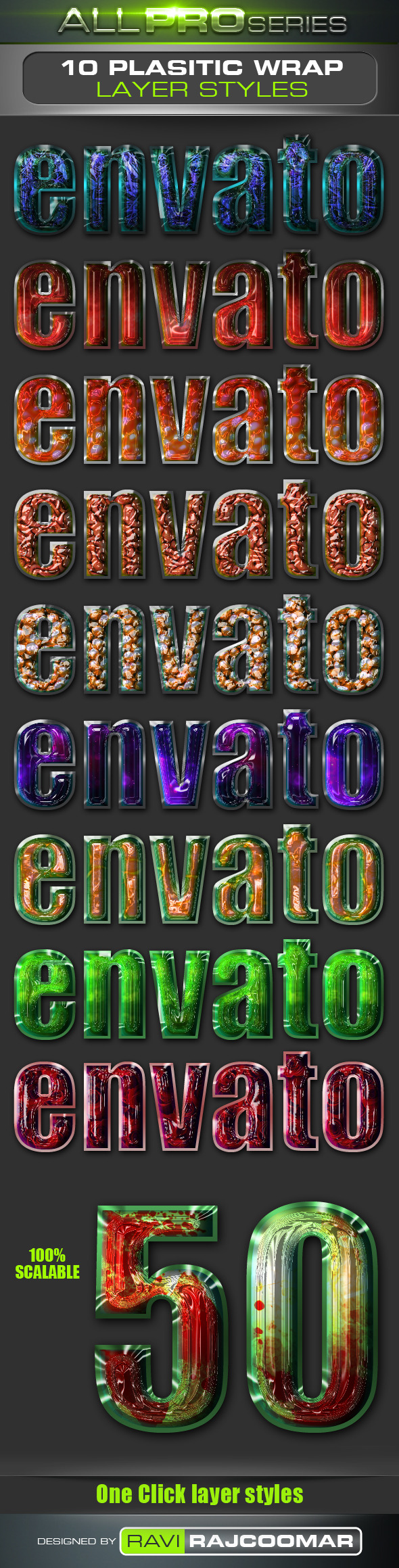 Plastic Wrap Layer Styles - Text Effects Styles