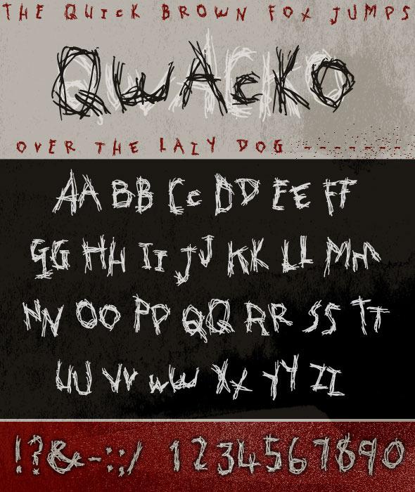 Qwacko Font; Hand-drawn Graffiti Type - Script Fonts