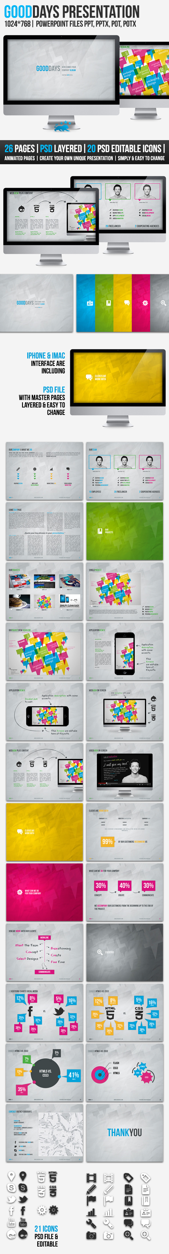 GOODDAYS | 26 Pages | POWERPOINT Presentation - PowerPoint Templates Presentation Templates