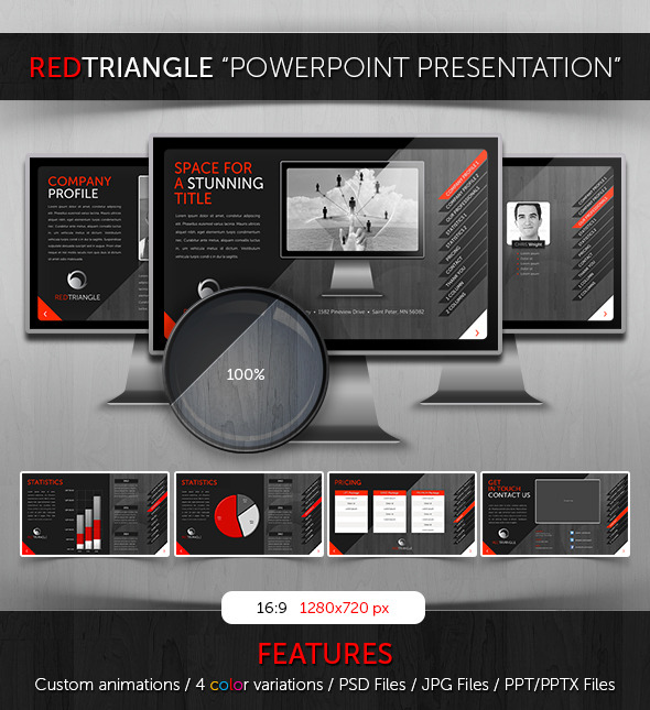 Powerpoint - RedTriangle Theme - PowerPoint Templates Presentation Templates
