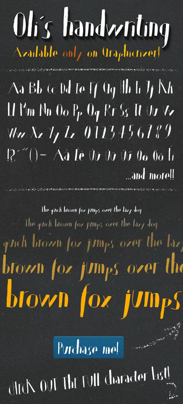 Oli's Handwriting TrueType font - Handwriting Fonts