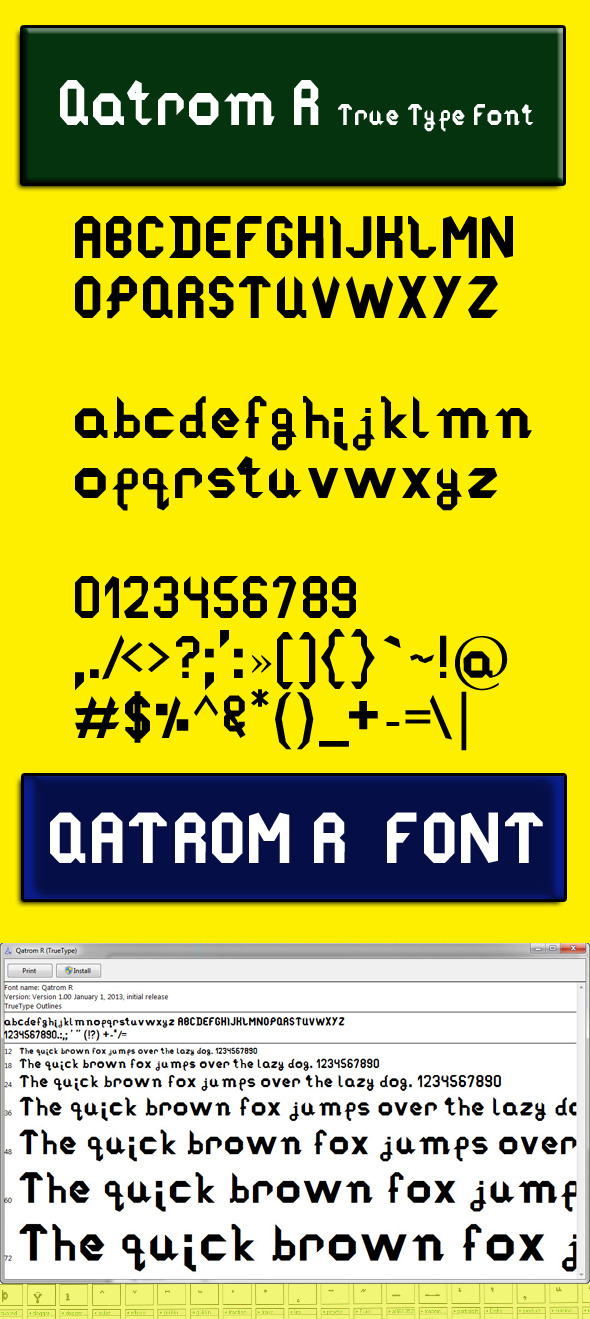 Qatrom R - Sans-Serif Fonts