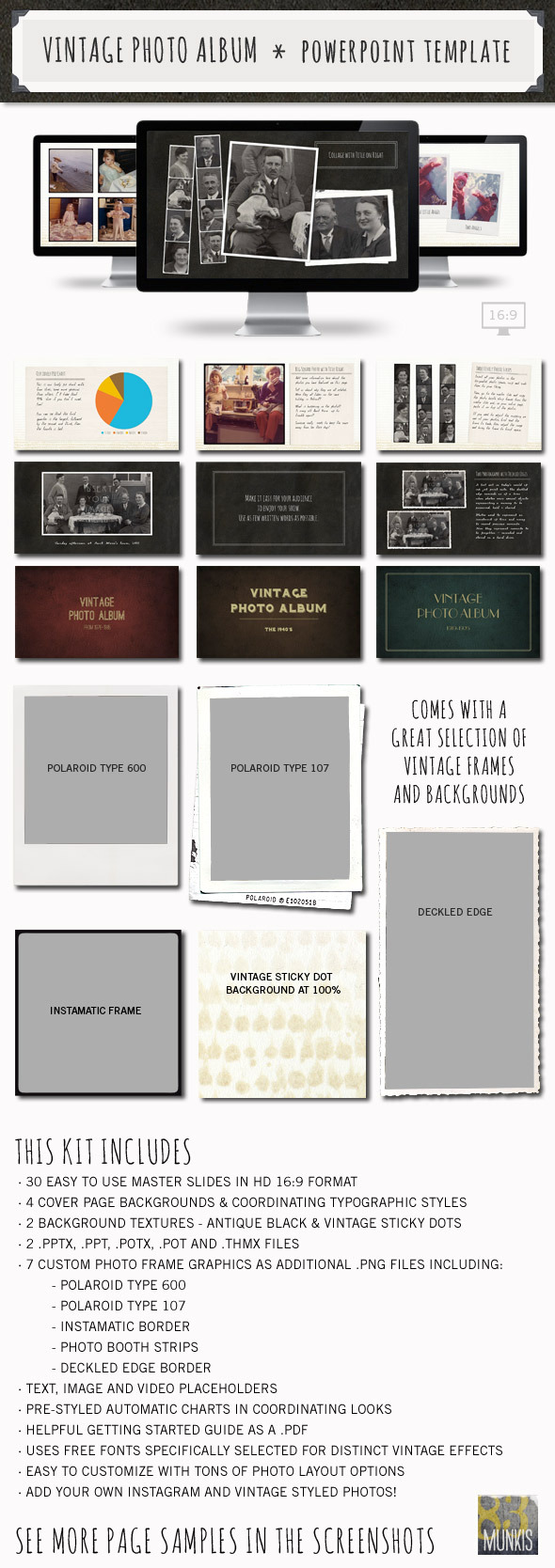 Vintage photo album powerpoint template by 83munkis graphicriver vintage photo album powerpoint template powerpoint templates presentation templates toneelgroepblik Images