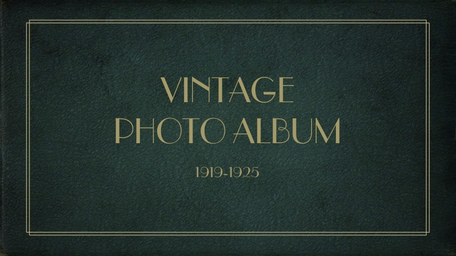vintage photo album powerpoint template by munkis  graphicriver, Powerpoint