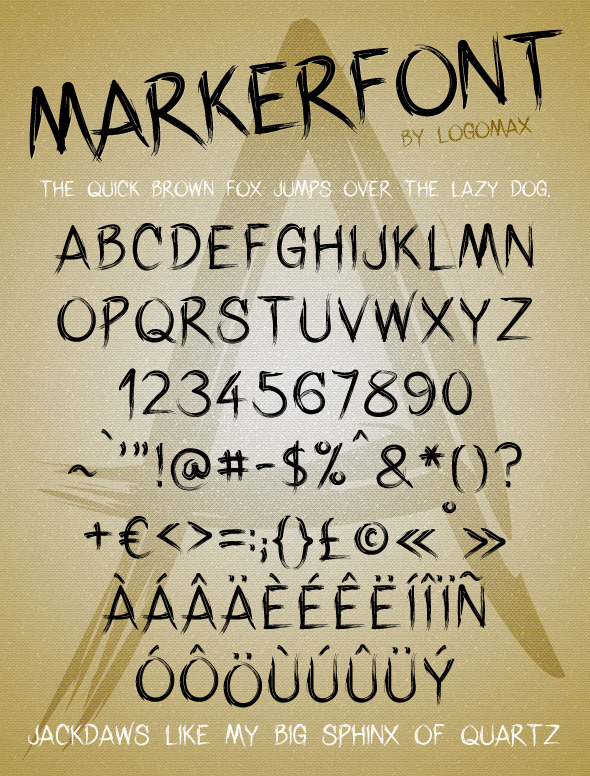 Marker Font - Handwriting Fonts