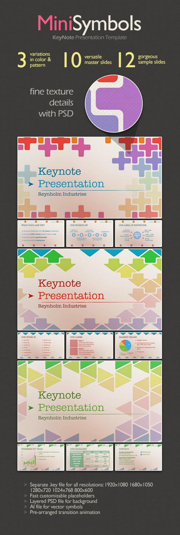 MiniSymbols Keynote Presentation Template - Creative Keynote Templates