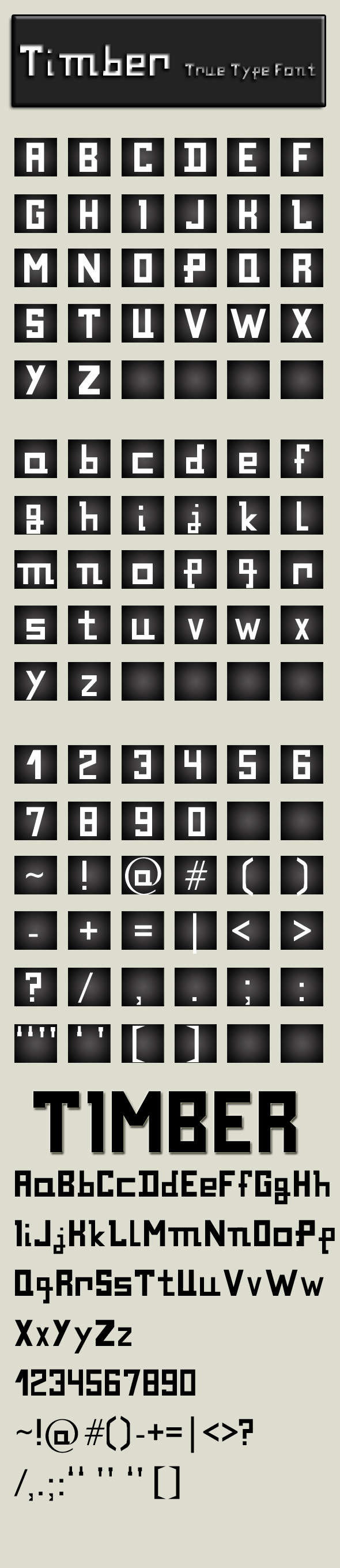 Timber - Sans-Serif Fonts