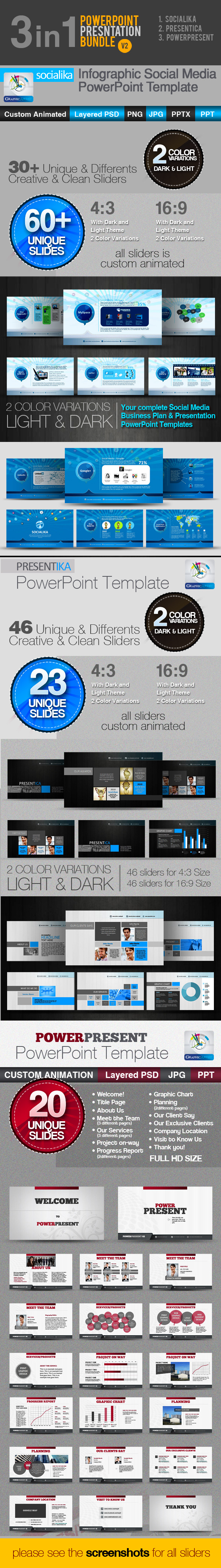 3in1: PowerPoint Templates Bundle v2 - Creative PowerPoint Templates