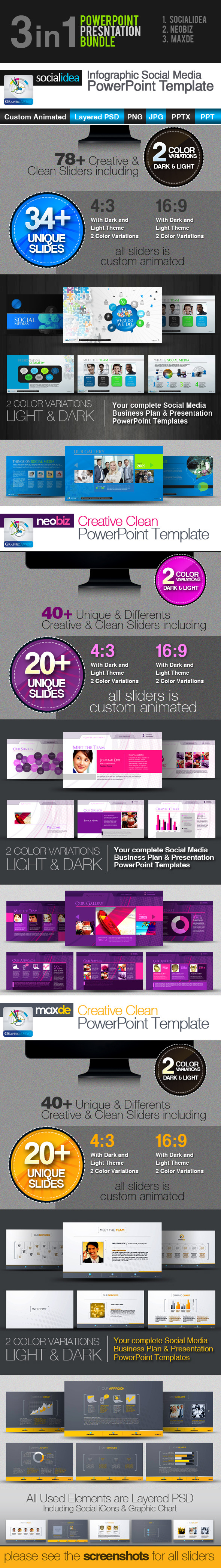 3in1: PowerPoint Templates Bundle - Business PowerPoint Templates