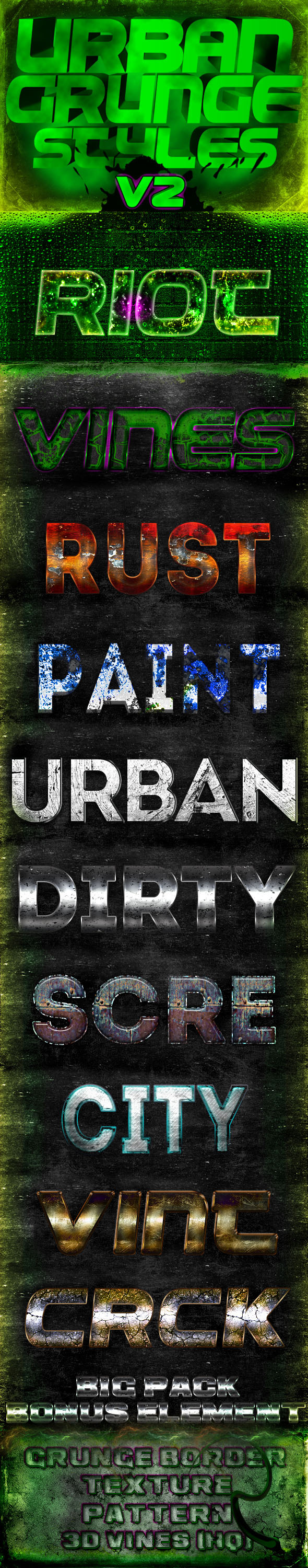 Urban Grunge Styles V2 - Text Effects Styles