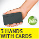 3 Hand Holding Name Card Illustrations - GraphicRiver Item for Sale