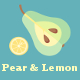 Pear, Apple and Lemon - GraphicRiver Item for Sale