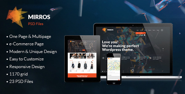MIRROS – PSD Template