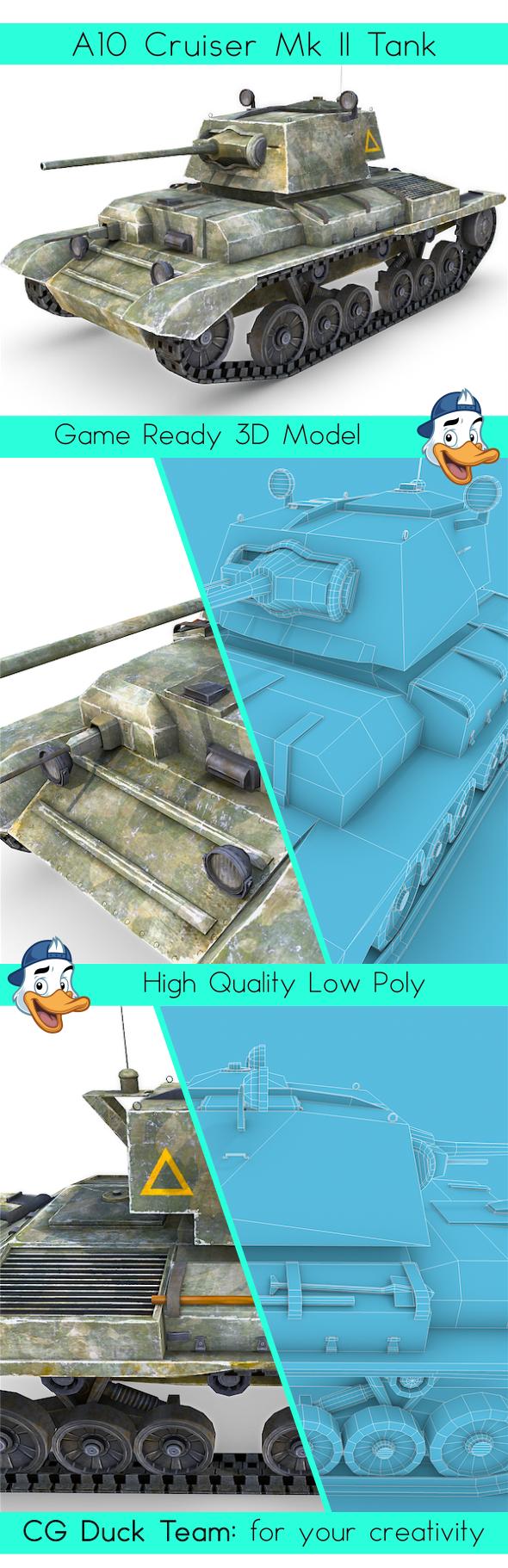A10 Cruiser Mk II Tank - 3DOcean Item for Sale