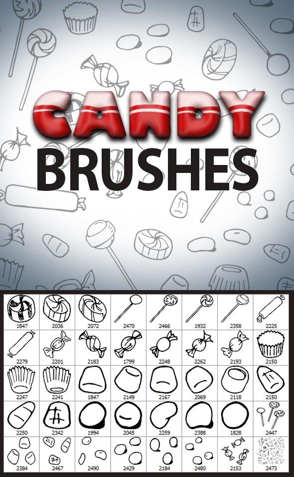Candy Sketches Brush Set - Flourishes Brushes