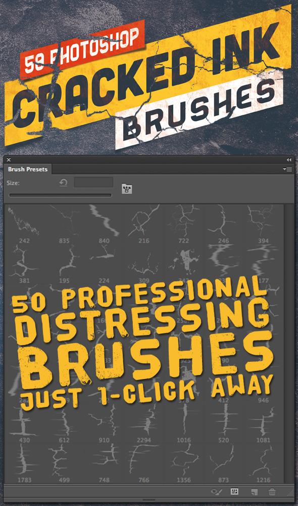 50 Photoshop Crack Grunge Distress Brushes - Grunge Brushes