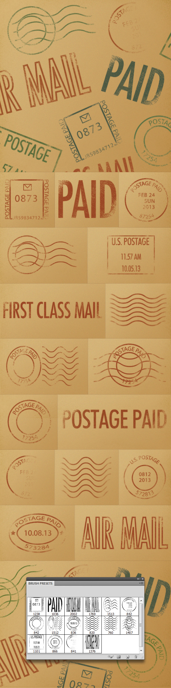 Postmark Brushes - Flourishes Brushes