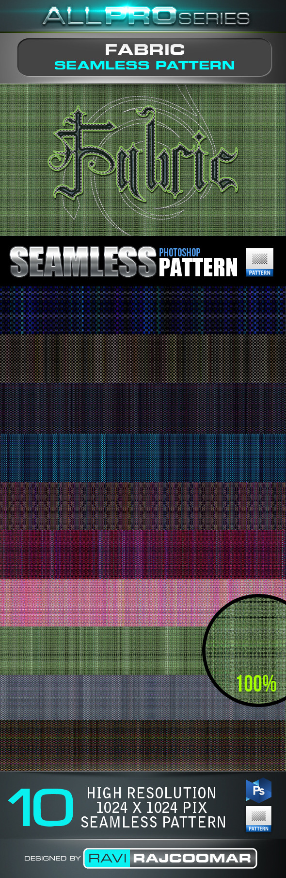 Fabric Seamless Tileable Pattern - Textures / Fills / Patterns Photoshop