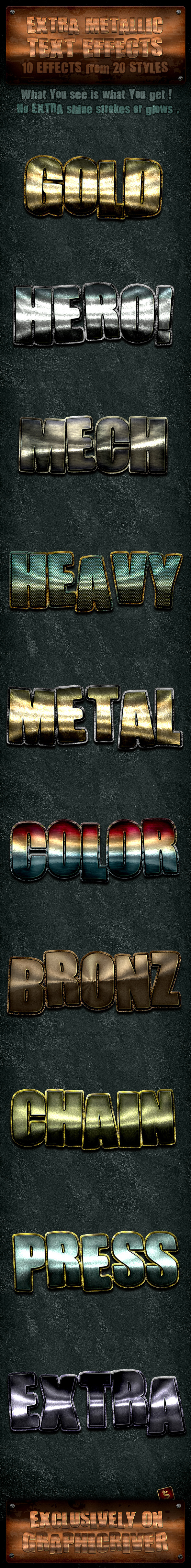 Metallic Text Effects - Text Effects Styles