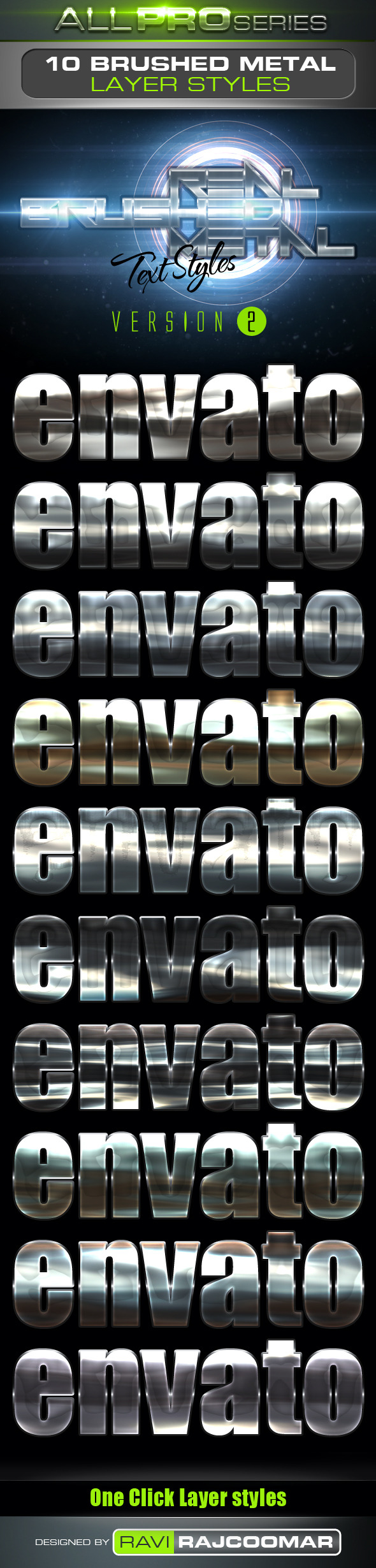 Real Brushed Metal Text Styles Vol.2 - Styles Photoshop