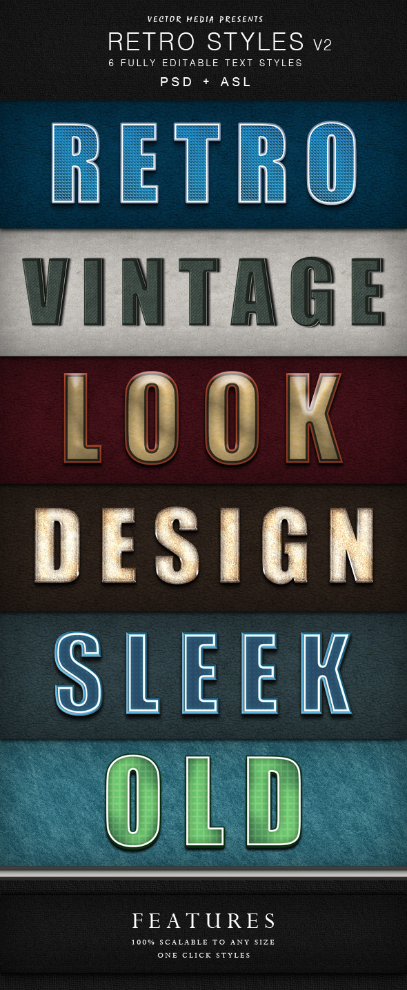 Retro Styles - Vol.2 - Text Effects Styles