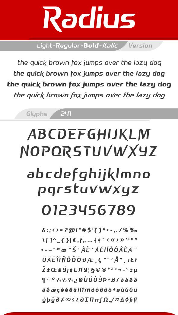 Radius Font - Futuristic Decorative