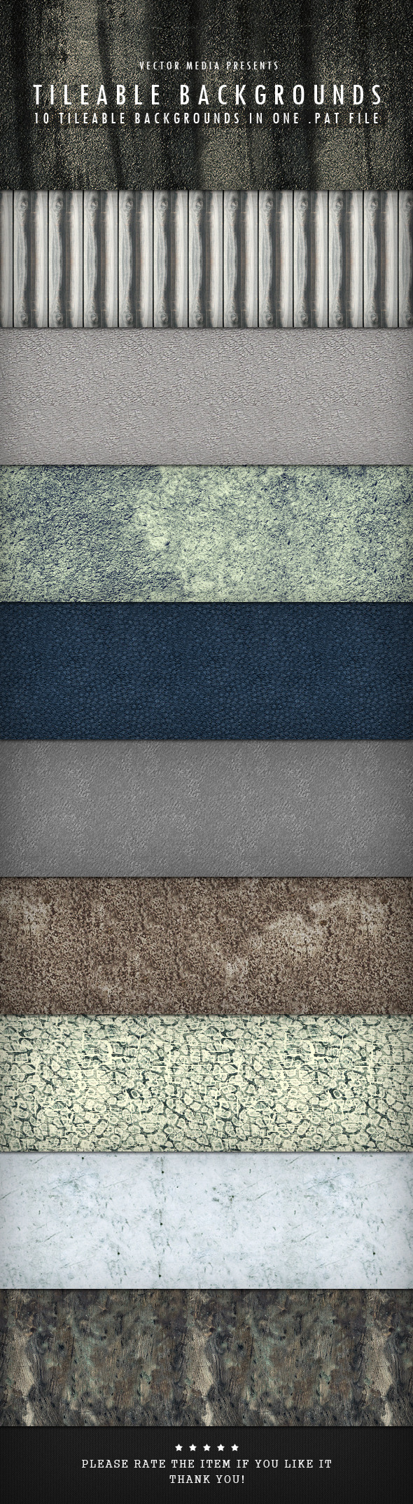 Tileable Backgrounds - Miscellaneous Textures / Fills / Patterns