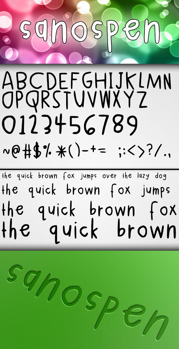 Sanospen Font - Hand-writing Script