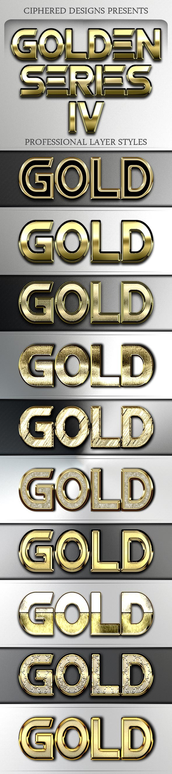 Golden Series IV - Professional Layer Styles - Text Effects Styles
