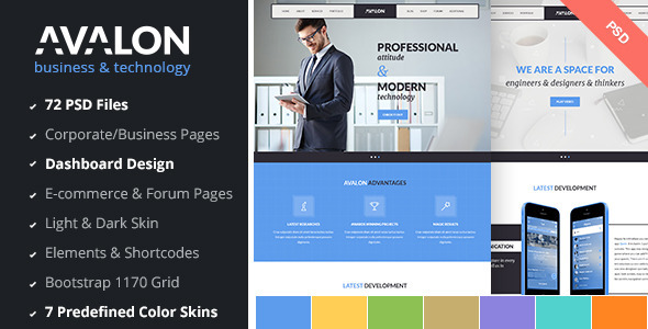 Avalon – Business & Technology PSD Template