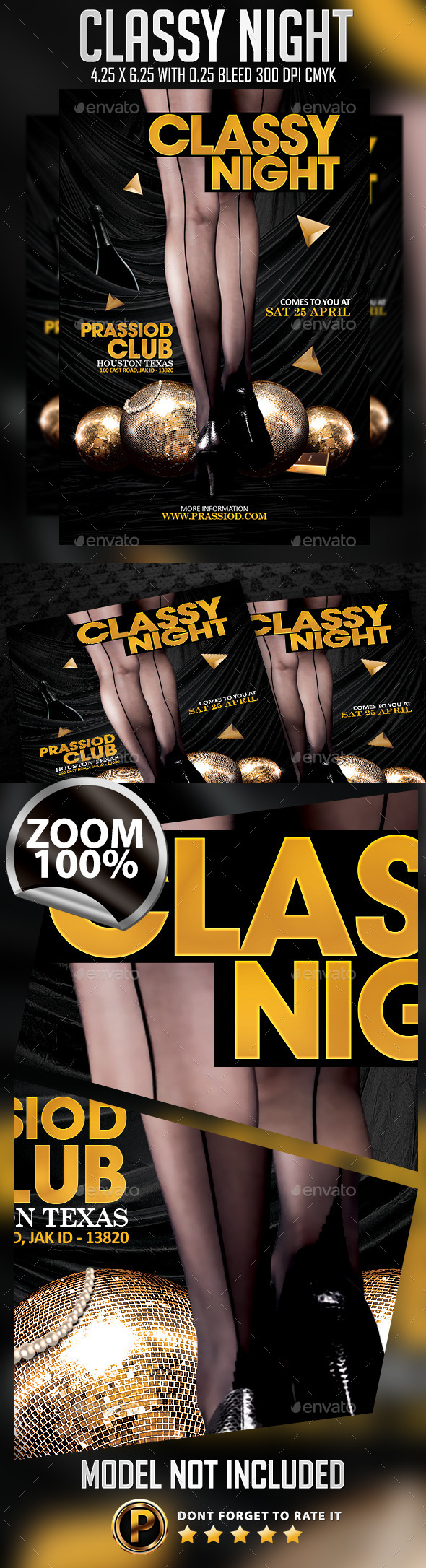 Classy Night Flyer Template - Clubs & Parties Events