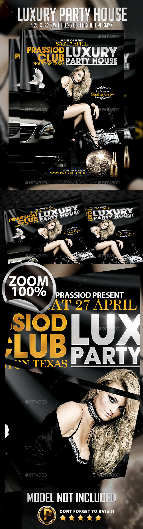 Luxury Party House Flyer Template - Clubs & Parties Events