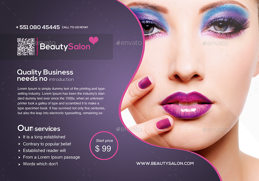 Beauty Salon Flyer By Creativeideaslab | Graphicriver