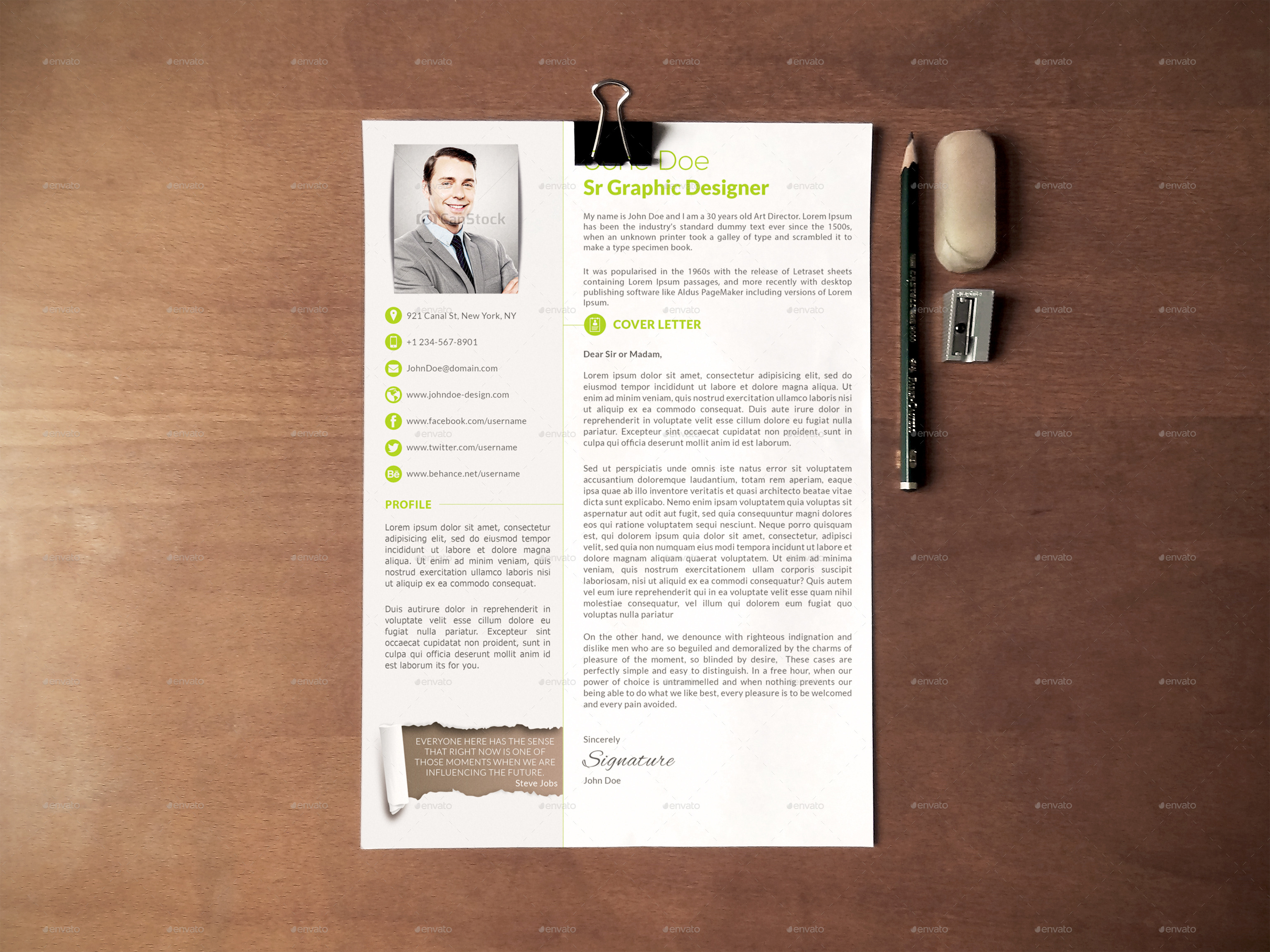 3 piece professional resume cv by creativework07 graphicriver