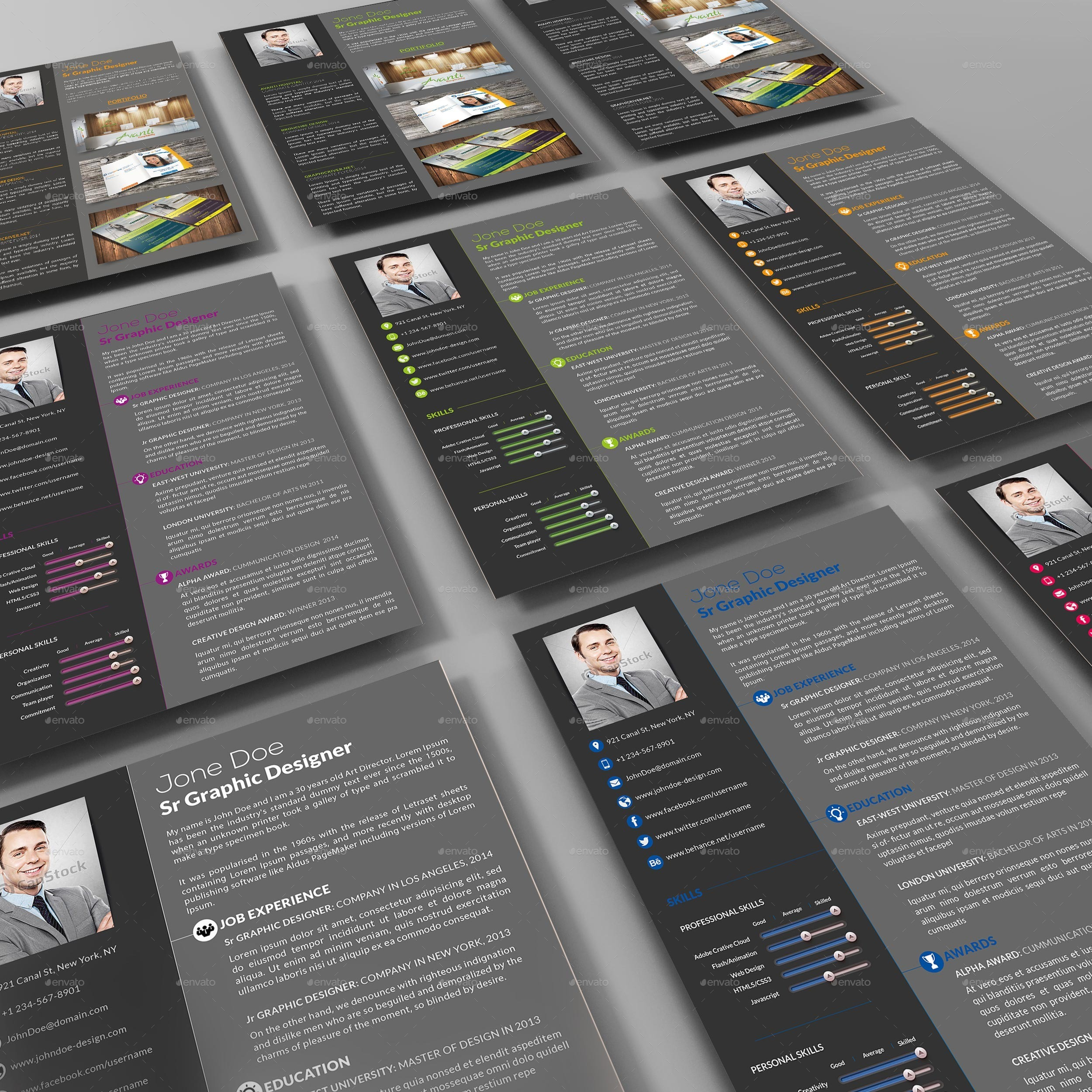 3- Piece Professional Resume/CV by Creativework07 | GraphicRiver