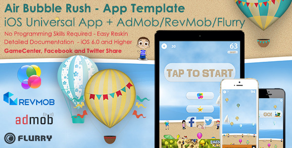 Air Bubble Rush - Universal iOS Full Game App+Ads - CodeCanyon Item for Sale