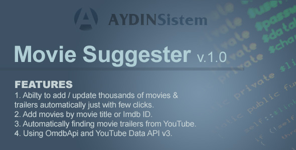 Movie Suggester - CodeCanyon Item for Sale