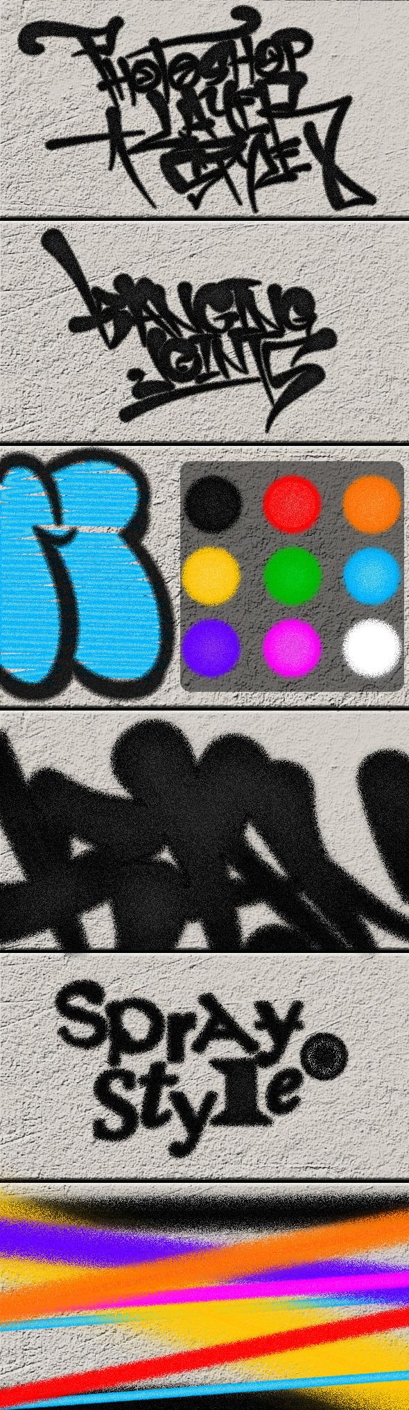 Spray Photoshop Styles - Styles Photoshop