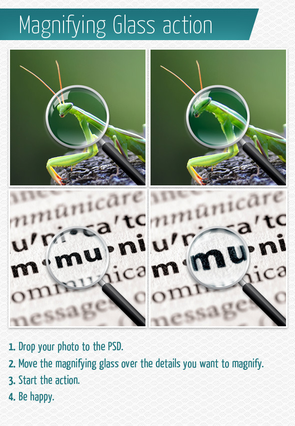 Magnifying Glass Action - Actions Photoshop